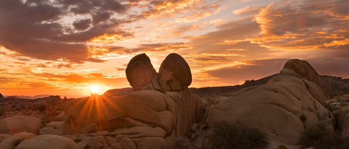 Sunset at Mojave Desert in Twentynine Palms, CA